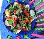 Edible plants, flowers & berries salad at Smoothwater Lodge