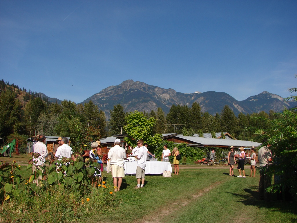 Araxi Long Table Culinary/wine event . North Arm Farm, Pemberton, BC