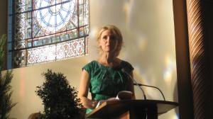 Elizabeth Gilbert author of The Signature of All Things at Victoria College chapel in Toronto