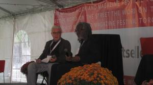 Austin Clarke at Toronto's annual  WORD ON THE STREET literary fair, 2013