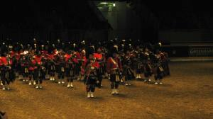 A small section of the 48 Highlanders at The Royal Horse Show in the Ricoh coliseum/Heritage Court  (west end of Direct Energy building)