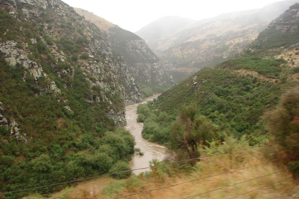 DUNEDIN, New Zealand / Taieri Gorge train journey