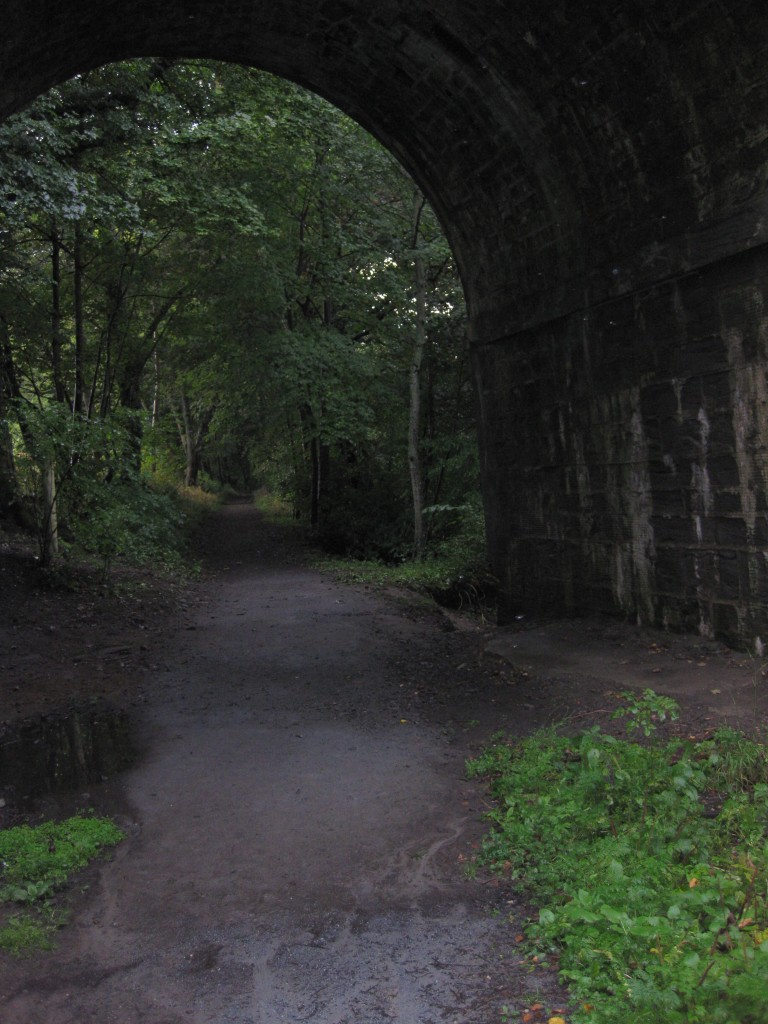 Dunkeld, Scotland: secret walking path beneath the bridge